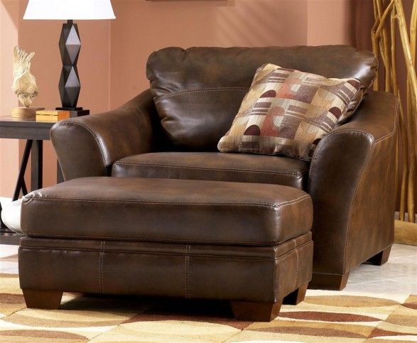 furniture-gorgeous-brown-leather-oversized-chairs-with-ottoman .