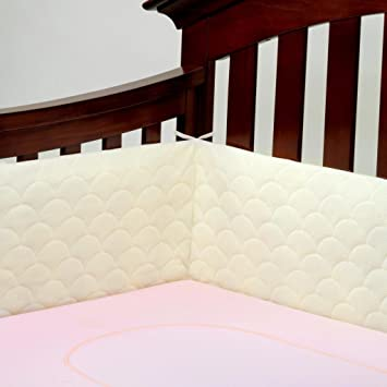 Amazon.com : Lifenest Breathable Padded Mesh Crib Bumper -Ivory : Ba