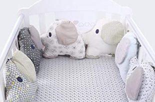 Amazon.com : Cotton Baby Crib Bumpers Elephant Crib Bumper Pad .