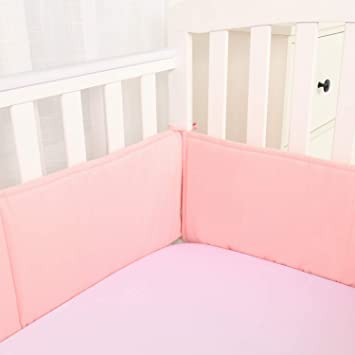 Amazon.com : Habibee Baby Breathable Cotton Crib Bumper Pads for .