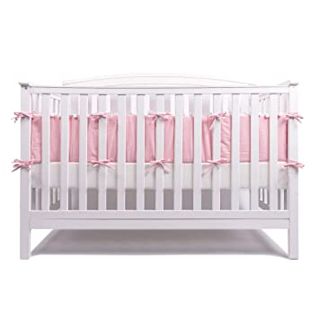 Amazon.com : LOAOL Baby Crib Bumper Pads with Pom Pom Breathable .