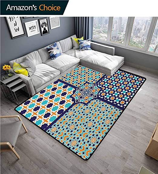 Amazon.com: YucouHome n Non Slip Area Rug Girls Bedroom, Different .
