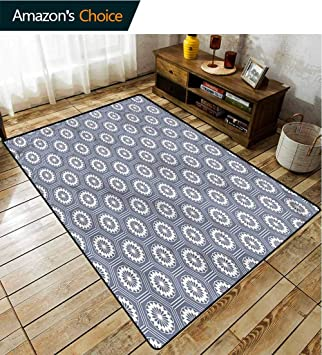Amazon.com: TableCoversHome Geometric Decorative Area Rug Girls .