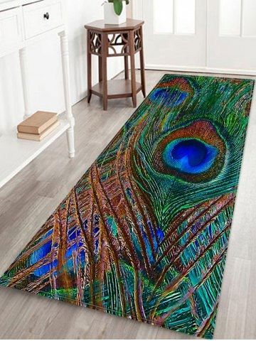 Peacock Feather Pattern Water Absorption Area Rug in 2019 .