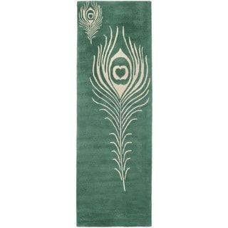 "Safavieh Handmade Soho Simi Peacock Feather N.Z. Wool Rug (2'6"" x ."