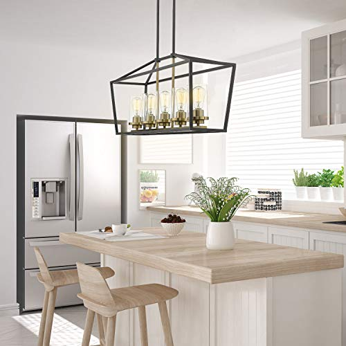 Emliviar Modern 5-Light Kitchen Island Pendant Light Fixture .