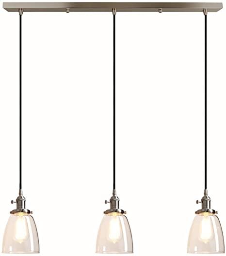 Pathson Industrial 3-Light Pendant Lighting Kitchen Island Hanging .