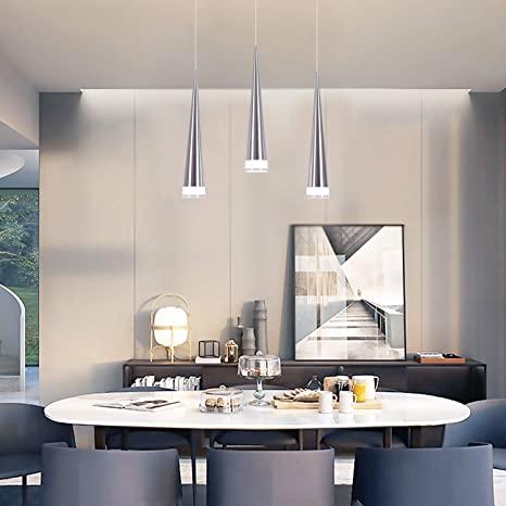 CHYING Modern Kitchen Island Lighting, Mini Cone 3-Light Pendant .