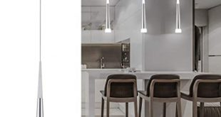 Amazon.com: Harchee Mini Modern Pendant Light in Silver Brushed .
