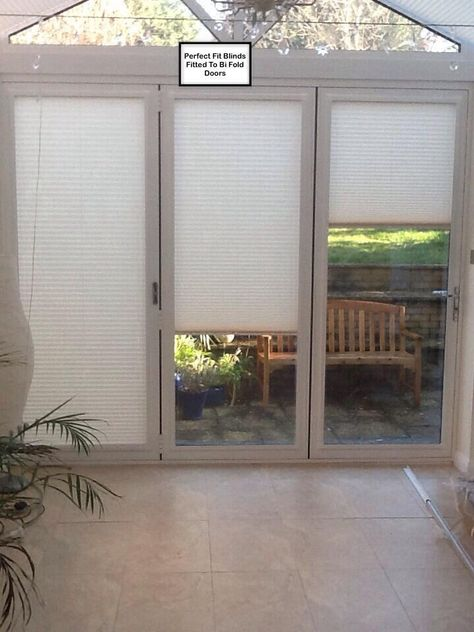 Pleated Perfect Fit Blinds Fitted To Bi Fold Doors. (With images .