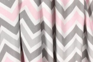 Light Baby Pink Gray Curtains Nursery Curtain Panels Chevron .