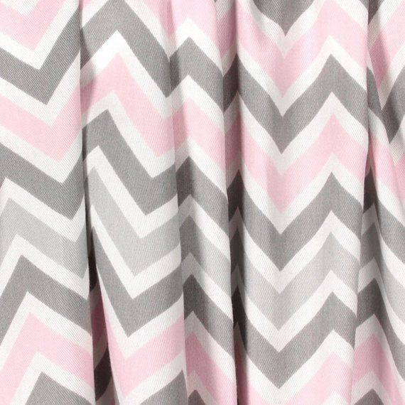 pink and grey curtains for nursery
