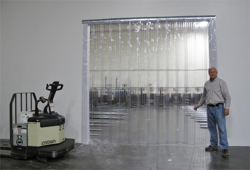 Plastic Strip Curtains for Large Dock Doors, Clear PVC Vinyl Strip .