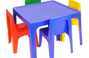 plastic kids table and chair set simple with images of VJJYFPF .
