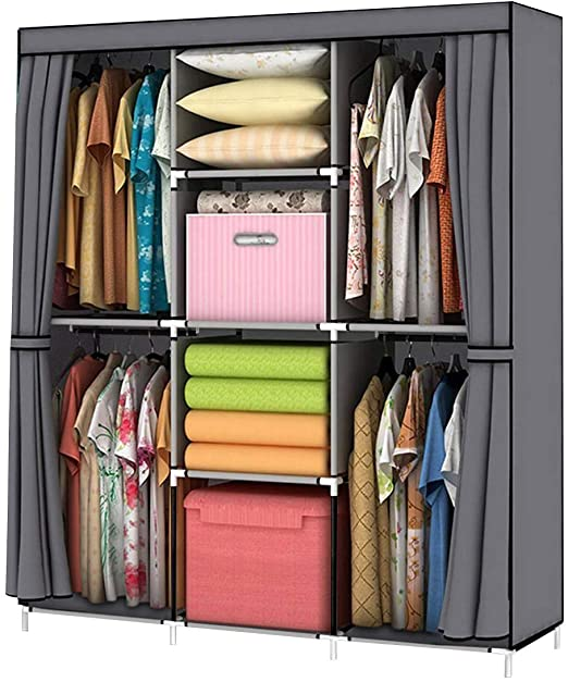 Amazon.com: YOUUD Wardrobe Storage Closet Clothes Portable .