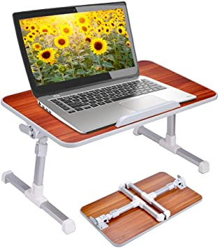 Amazon.com : Neetto Laptop Height Adjustable Bed Table, Portable .