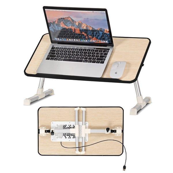Shop Costway Portable Lap Desk Folding Laptop Computer Table .