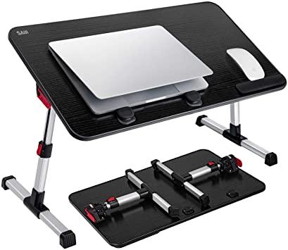 Amazon.com : [Large Size] Laptop Bed Tray Table, SAIJI Adjustable .