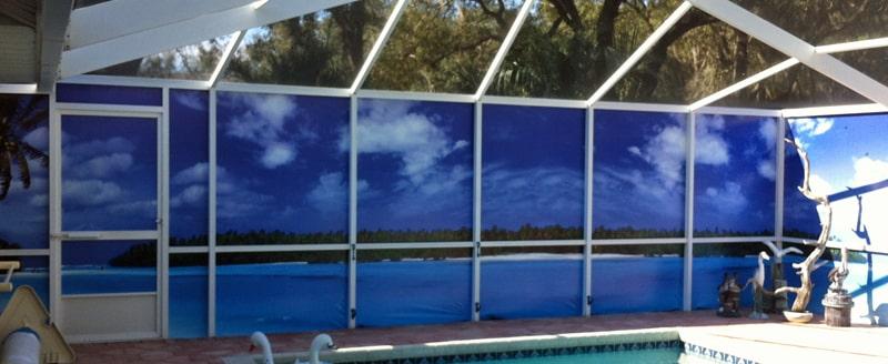 Outdoor Privacy Screens for Patio & Pool Enclosur