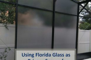 Using Florida Glass as a Privacy Screen for your Pool Enclosu