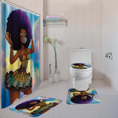 WeBuyBlack > Bathroom > 4-Piece Bath Set (Purple Black Girl Magi