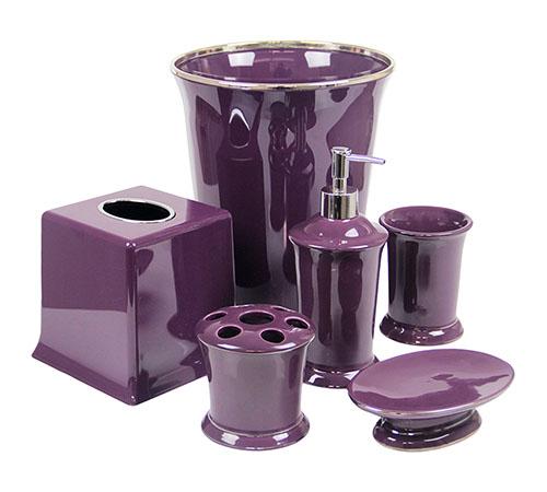 Regal Purple Bathroom Accessories DELUXE S