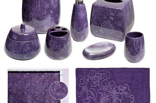Botanica Purple Bathroom Accessories, Deluxe Set in 2020 | Purple .