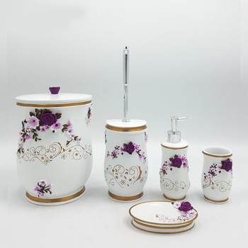 Purple Turkish Style Resin Bathroom Accessories Sets Price - Buy .