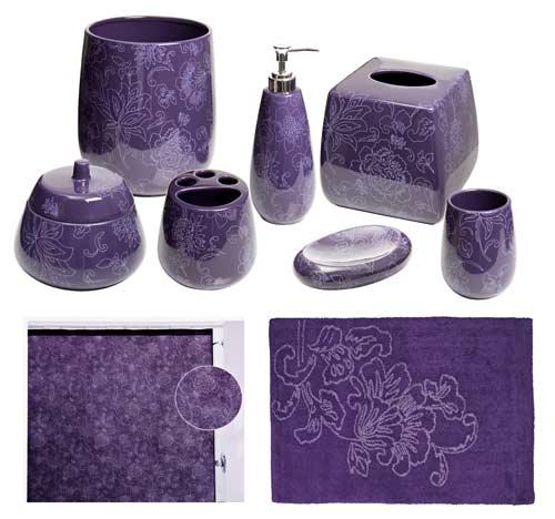 Botanica Purple Bathroom Accessories, Deluxe S