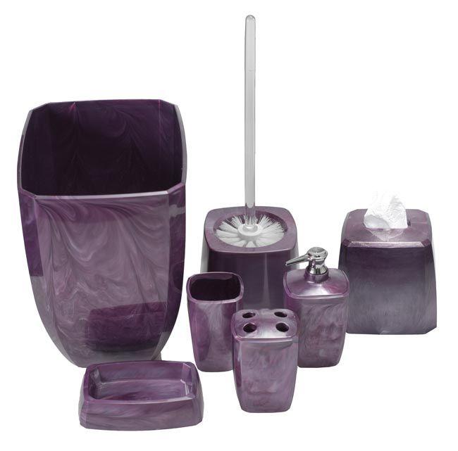 Purple Swirl Bathroom Accessories | Purple bathrooms, Purple .