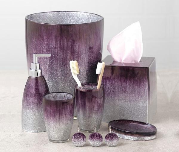 Elegant & Sophisticated Purple Bathroom Accessori