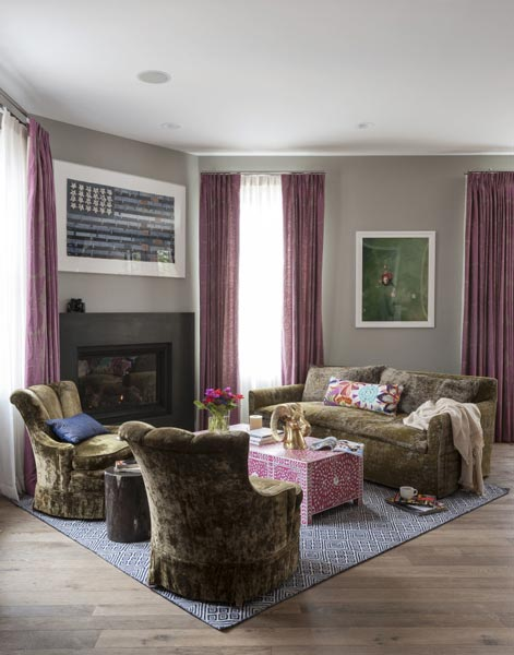 75 Lively Purple Living Room Photos 2019 | Shutterf