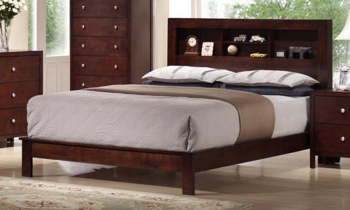 Montana Queen Platform Bed with Storage Headboard | Group