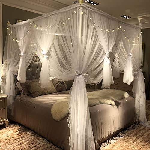 Queen Canopy Bed Curtains: Amazon.c