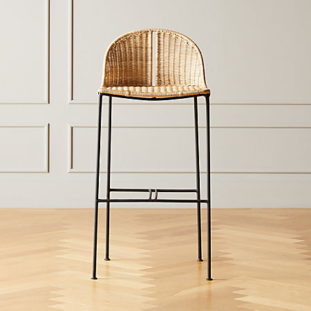 "Cesta 30"" Rattan Bar Stool 