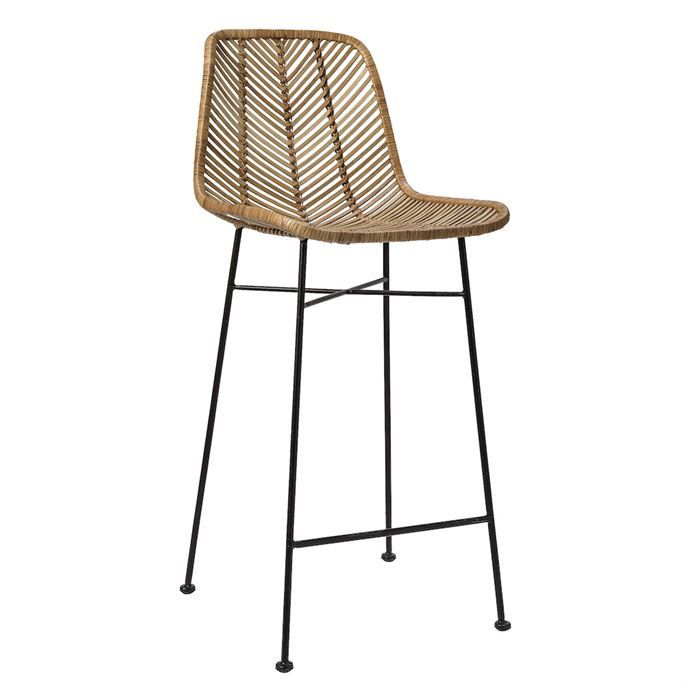 Bloomingville Rattan Bar Stool … | Rattan bar stools, Bar stools .