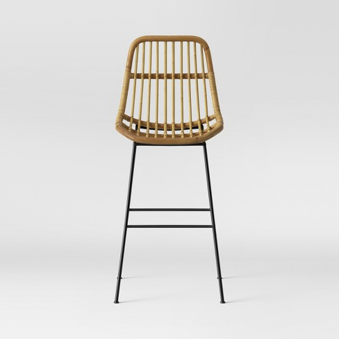 Linnet Rattan With Metal Legs Barstool - Light Brown - Opalhouse .