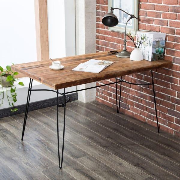 "Shop Parkes 54"" Reclaimed Wood Desk - Overstock - 206767"