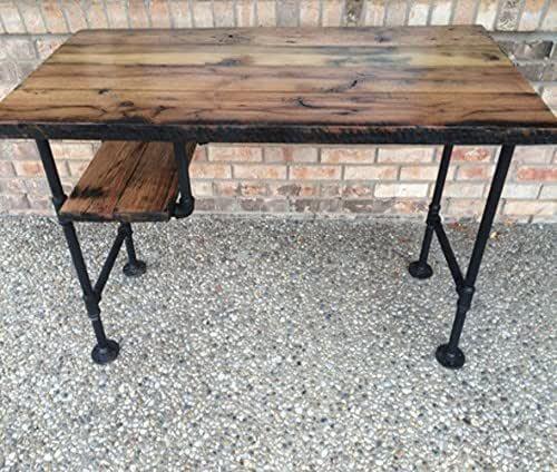 Amazon.com: Reclaimed Wood Desk Table - Rustic Solid Oak W/28 .