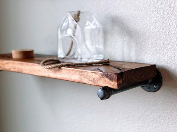 Reclaimed wood Floating shelves Bookshelf Industrial shelf | Et