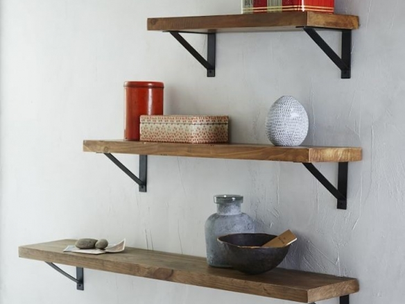 Reclaimed Wood Shelf + Basic Bracke