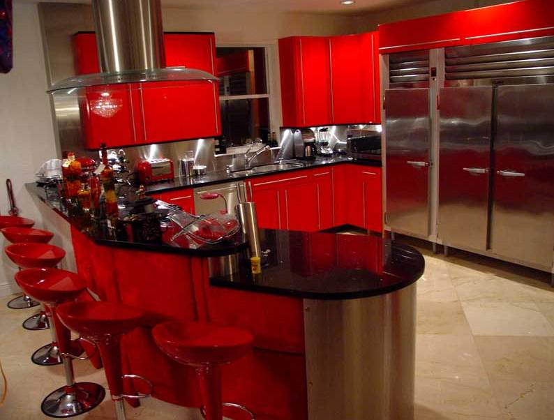 Red And Black Kitchen Decorating Ideas Lanzhome Com