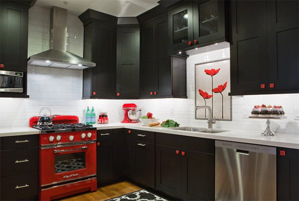 Color Scheme Idea: 20 Red, Black and White Kitchen Designs | Home .