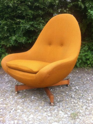 Vintage Retro Greaves And Thomas Egg Chair Spinning Rotating Chair .