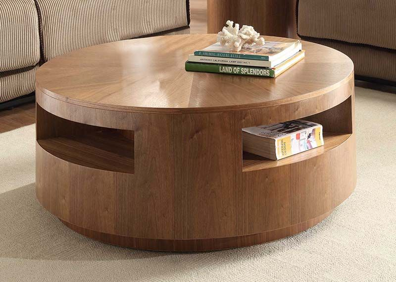 Stylish Wood Coffee Table With Storage Coffee Table Large Round .