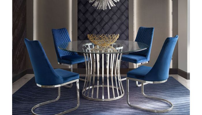 Vion Round Glass Dining Table S