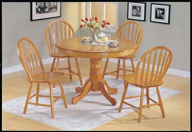 Farmhouse 5Pcs Oak Wood Round Dining Table Set - Shop for .
