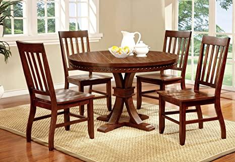 Amazon.com - Furniture of America Castile 5-Piece Transitional .