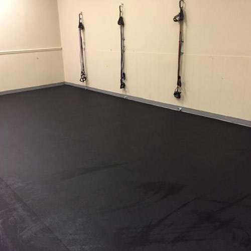 Rolled Rubber Home Gym Flooring - 1/4 Bla