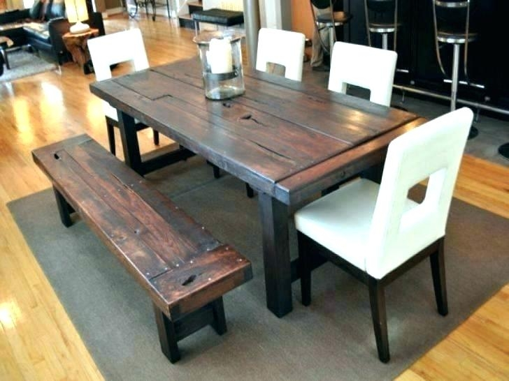 Rustic Dining Room Table Sets Benches Tables Sheen Farmhouse .